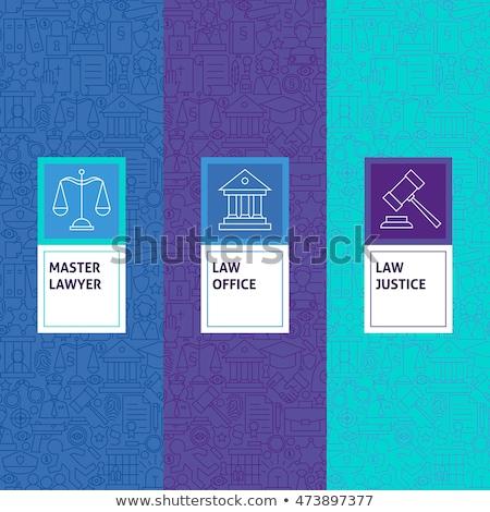 jogi · törvény · igazság · ikonok · ikon · gyűjtemény · könyv - stock fotó © netkov1