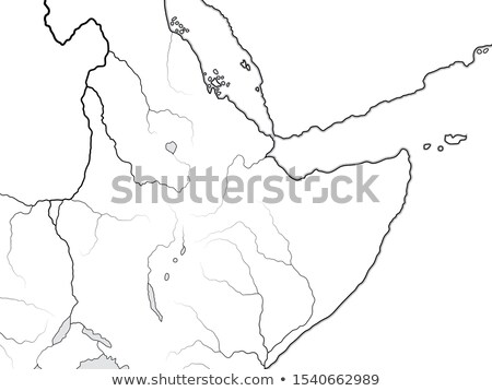 World Map of NUBIA, ETHIOPIA, SOMALIA: Kush, Punt, Aksum, Abyssinia, Sudan. Chart with African Horn. Stock photo © Glasaigh