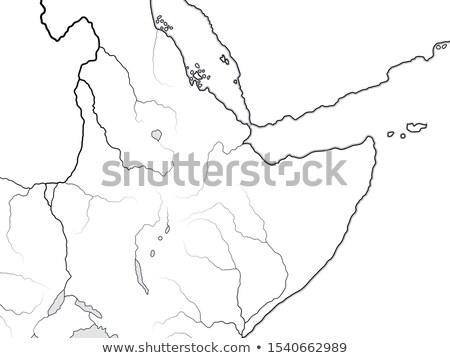 world map of nubia ethiopia somalia kush punt aksum abyssinia sudan chart with african horn stock photo © glasaigh