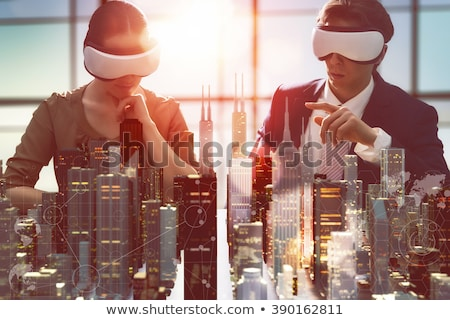 Artificielle réalité innovation technologie isométrique Photo stock © frimufilms