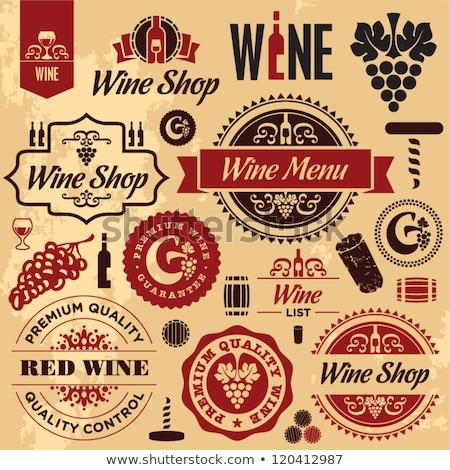 Vintage wine shop emblems Stock photo © netkov1