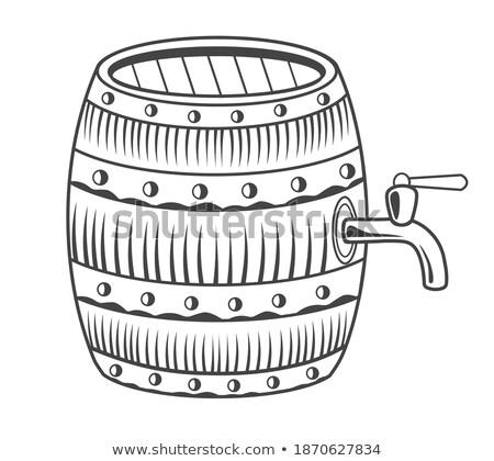 Snack voedsel bier houten alcohol opslag Stockfoto © robuart