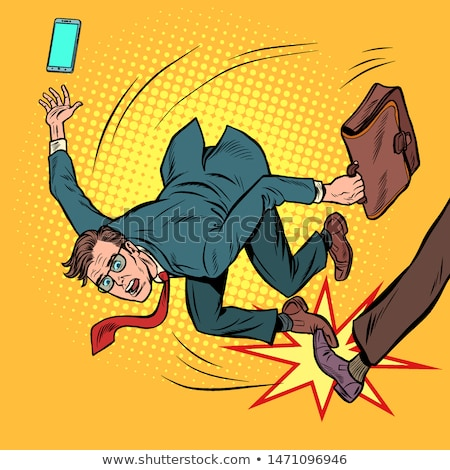 businessman falls. business competition and unfair practices Stock photo © studiostoks