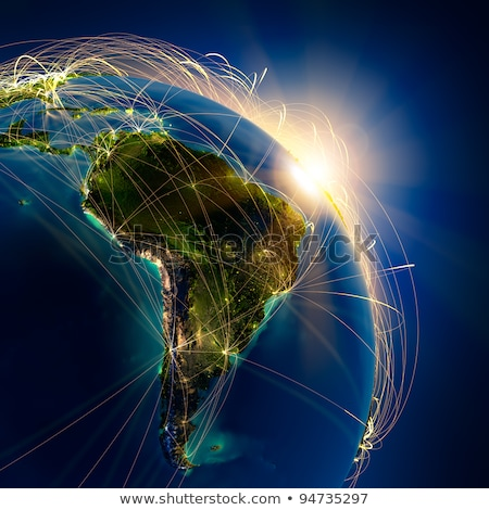 City lights on world map. South America. Stock photo © NASA_images