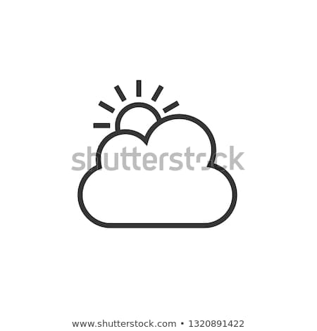 sun behind clouds icon stock photo © angelp