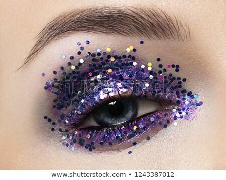 Schönen Makro erschossen weiblichen Auge zeremoniellen Stock foto © serdechny