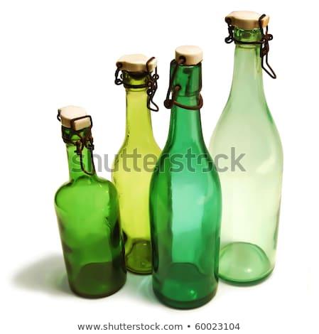 Starych ceramiczne szkła butelek kolekcja kolorowy Zdjęcia stock © lichtmeister