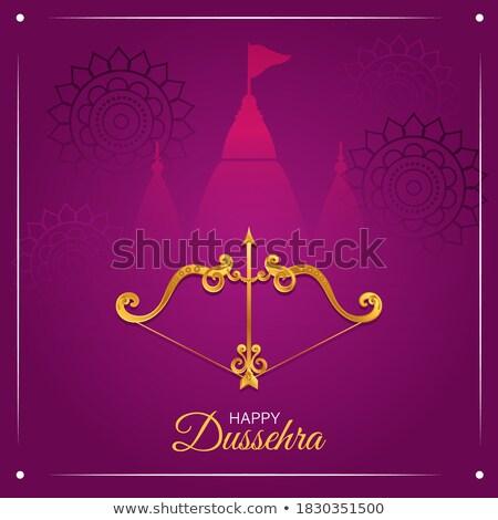 hindu festival of happy dussehra greeting design background Stock photo © SArts