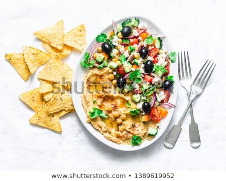 Tortilla cips üst görmek gıda arka plan Stok fotoğraf © Alex9500