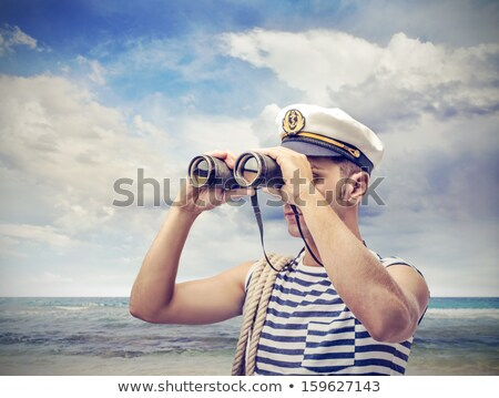 船乗り 男 実例 作業 船 白 ストックフォト © adrenalina