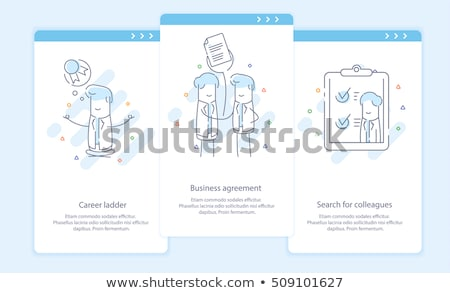 Contract Onboarding Elements Icons Set Vector Stock photo © pikepicture