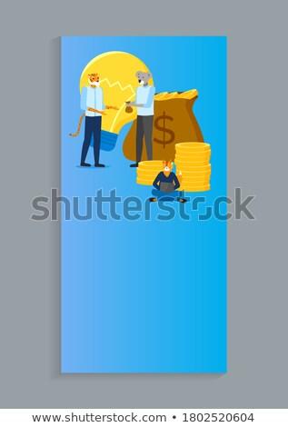 onderneming · investering · landing · pagina · sjabloon - stockfoto © robuart