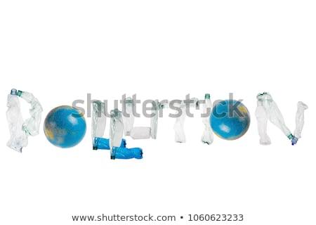 List plastikowe odpadów butelek zanieczyszczenia ekologia Zdjęcia stock © lightkeeper