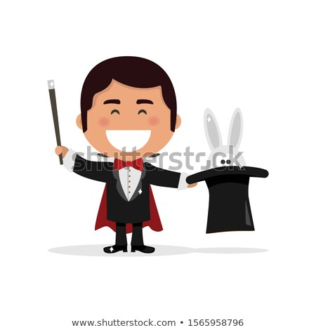Isolated boy dressed as a magician illusionist. Vector illustrat Stock photo © Imaagio