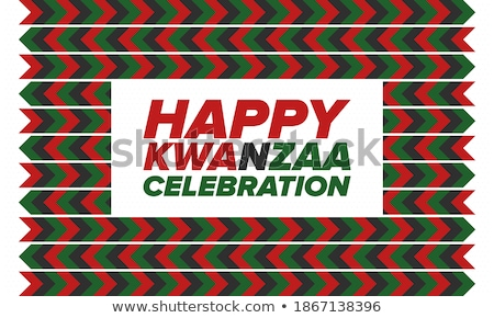 Happy kwanzaa card template with seven candles Stock photo © orson