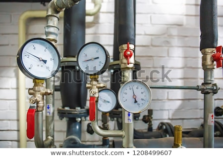 Heating system. Pumps, tubes and valves Stock photo © nomadsoul1