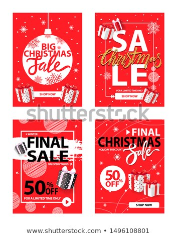 Final Christmas Sale 50 Percent Off, Half Price Stock photo © robuart