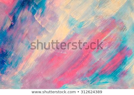 Artístico abstrato textura rosa acrílico paint brush Foto stock © Anneleven