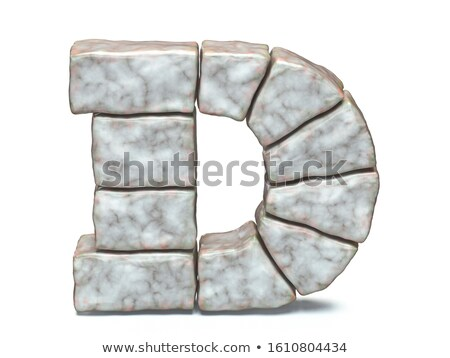 Rock kamieniarstwo chrzcielnica litera d 3D 3d Zdjęcia stock © djmilic