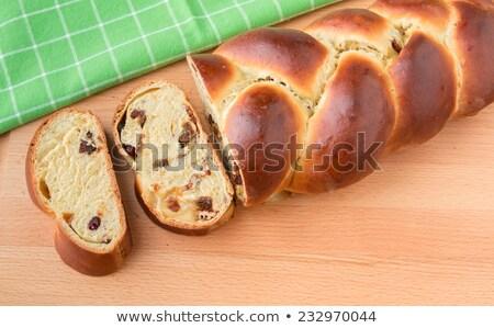 Due dolce pane alimentare sfondo tavola Foto d'archivio © joannawnuk