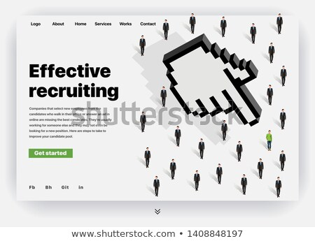 Effective Recruitment - Creative Business Concept. Web Design Template. Stock photo © tashatuvango