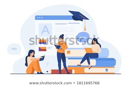 Digital translator concept vector illustration. Stock photo © RAStudio