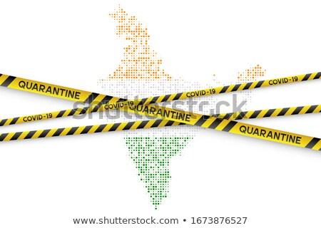 Bioveszély felirat citromsárga járvány vírus koronavírus Stock fotó © olehsvetiukha