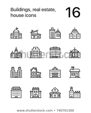 Buildings, real estate, house icons for web and mobile design pack 2 Stock photo © karetniy