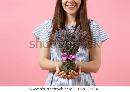 Geschenk vrouw Blauw trend moeders dag Stockfoto © Illia