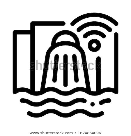 Wifi ikon vektör örnek imzalamak Stok fotoğraf © pikepicture