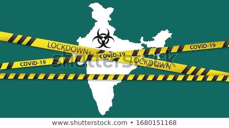 coronavirus covid-19 pandemic india lockdown concept background Stock photo © SArts