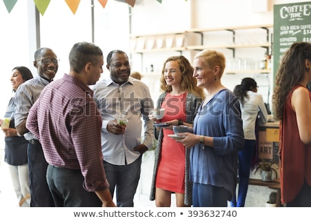 Conversation of People, Friends Meeting on Banquet Stock photo © robuart