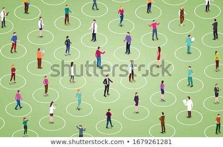 социальной расстояние изоляция мужчины женщины стороны Сток-фото © olira