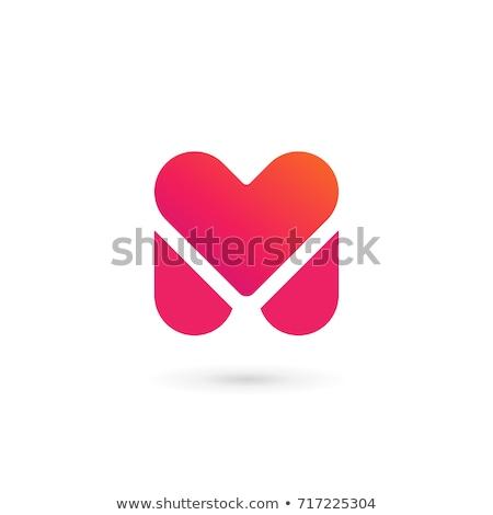 abstract · iconen · letter · m · ontwerp · oranje · teken - stockfoto © cidepix