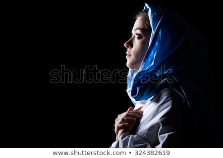 Holy Virgin Mary  black background Stock photo © Olena