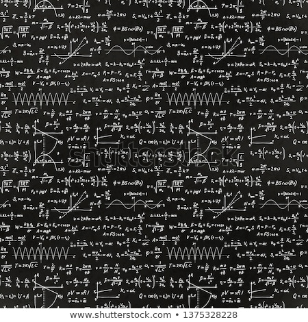 Basic math equations and formulas, white chalk lettering on school black chalkboard Stock photo © evgeny89