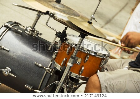 drummer musician man orchestra instrument Stock photo © yupiramos