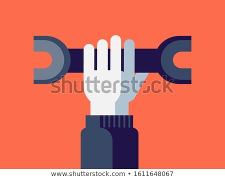 Mão cor ferramenta design gráfico projeto Foto stock © yupiramos