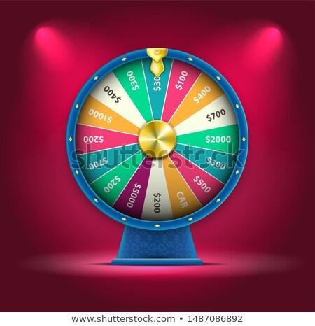 Rulett pörgés kerék szerencse terv gép Stock fotó © SArts