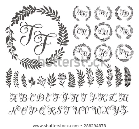 природы стиль свадьба монограмма Логотипы набор Сток-фото © SArts