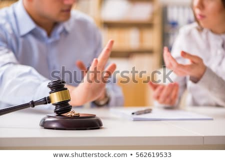 Echtscheiding rechter rechter advocaat boek Stockfoto © AndreyPopov