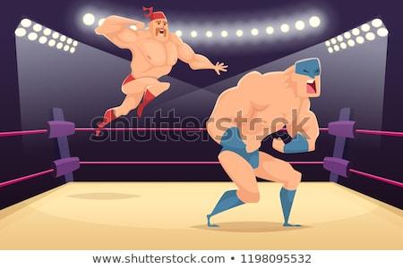 Sterke krachtig ring sport show Stockfoto © jossdiim
