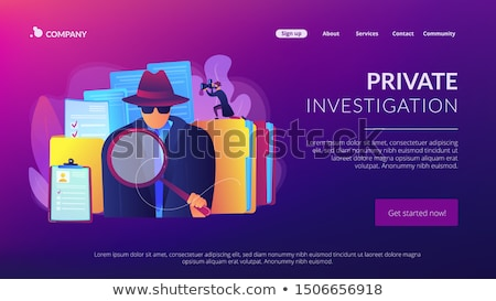 Private investigation concept landing page Stock photo © RAStudio