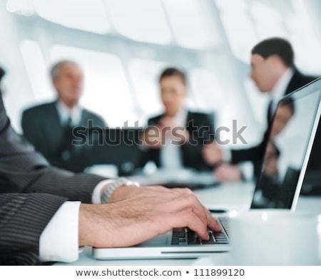 Zespołowej działalności adwokat koledzy konsultacja konferencji Zdjęcia stock © Freedomz
