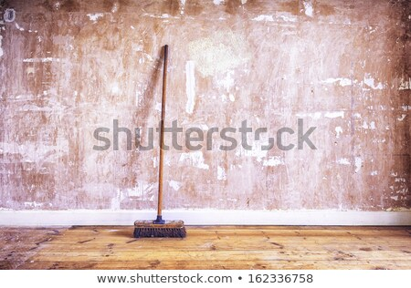 Wall with Broom Stock photo © craig