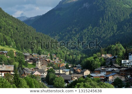 Town of Morzine in France stock photo © Musat