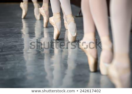 Dancer In Ballet Shoes Dancing In Pointe Photo stock © bezikus