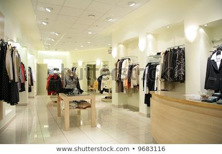kleding · winkel · geld · ontwerp · winkelen · interieur - stockfoto © paha_l