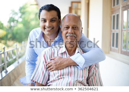 boy embraces father behind Stock photo © Paha_L