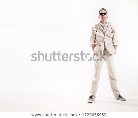 young man in white sports suit stock photo © Paha_L